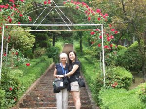 Mary and her mom, Nancy, in Korea