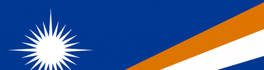 Blue banner with white star