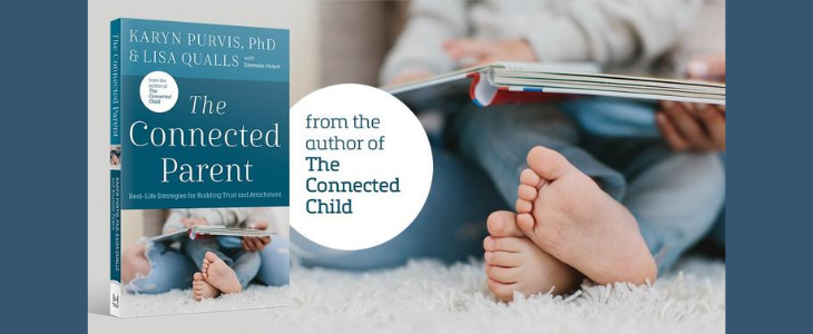 The Connected Parent book cover and promo